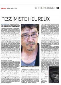 Interview par Thierry Raboud dans La Liberté